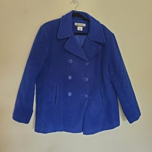 Columbia blue pea coat size 1X